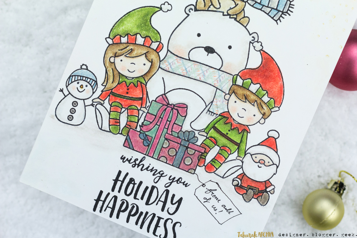 Holiday Happiness From All Of Us Christmas Card by Taheerah Atchia