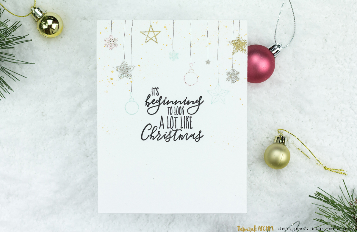 It's Beginning To Look A Lot Like Christmas Card by Taheerah Atchia