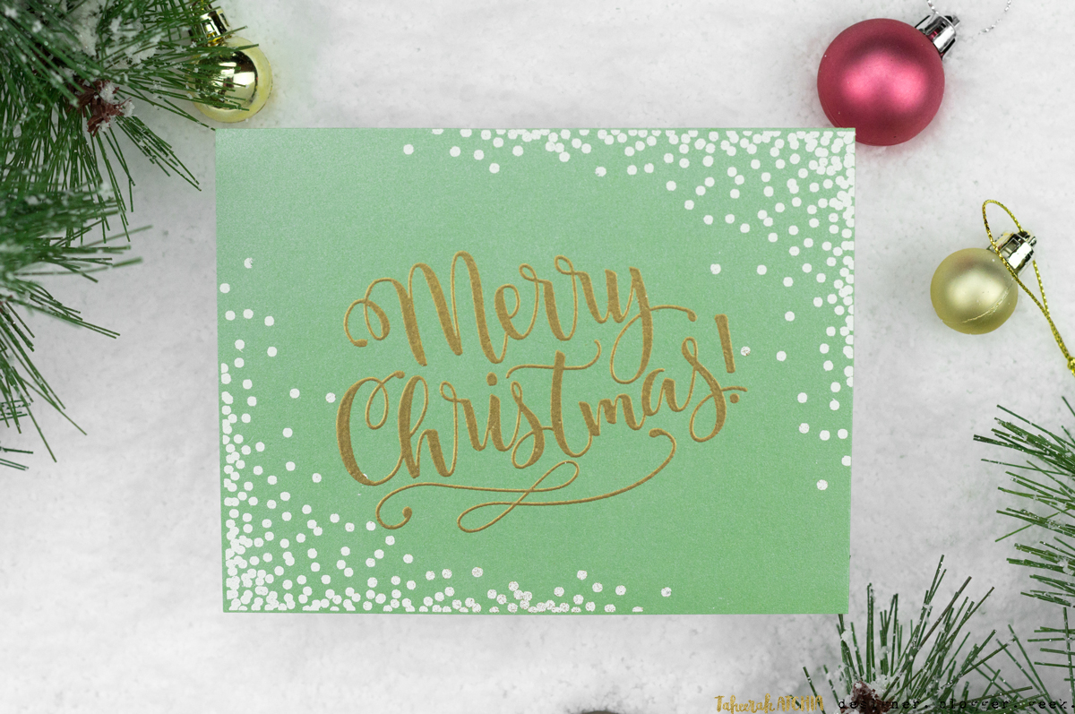 Merry Christmas Confetti Card by Taheerah Atchia