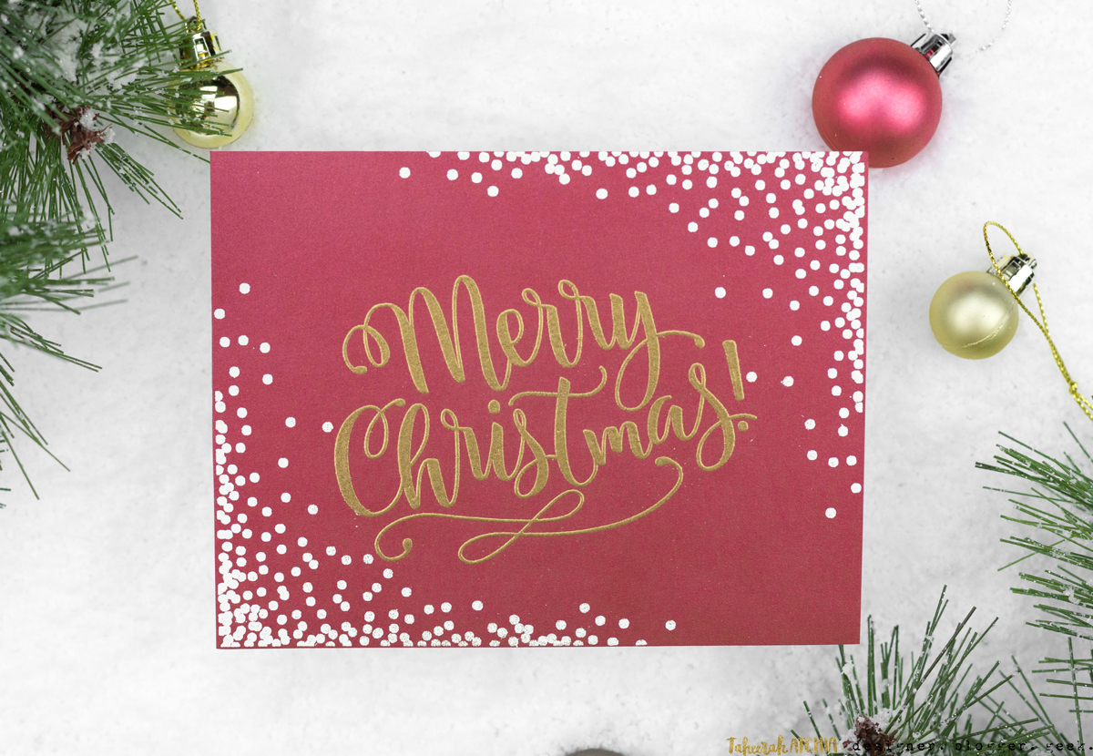 Merry Christmas Confetti Card by Taheerah Atchia