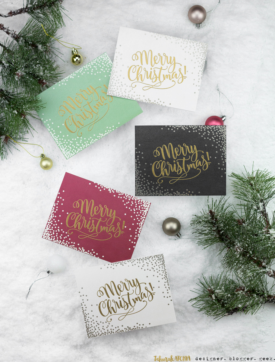 Merry Christmas Confetti Cards by Taheerah Atchia