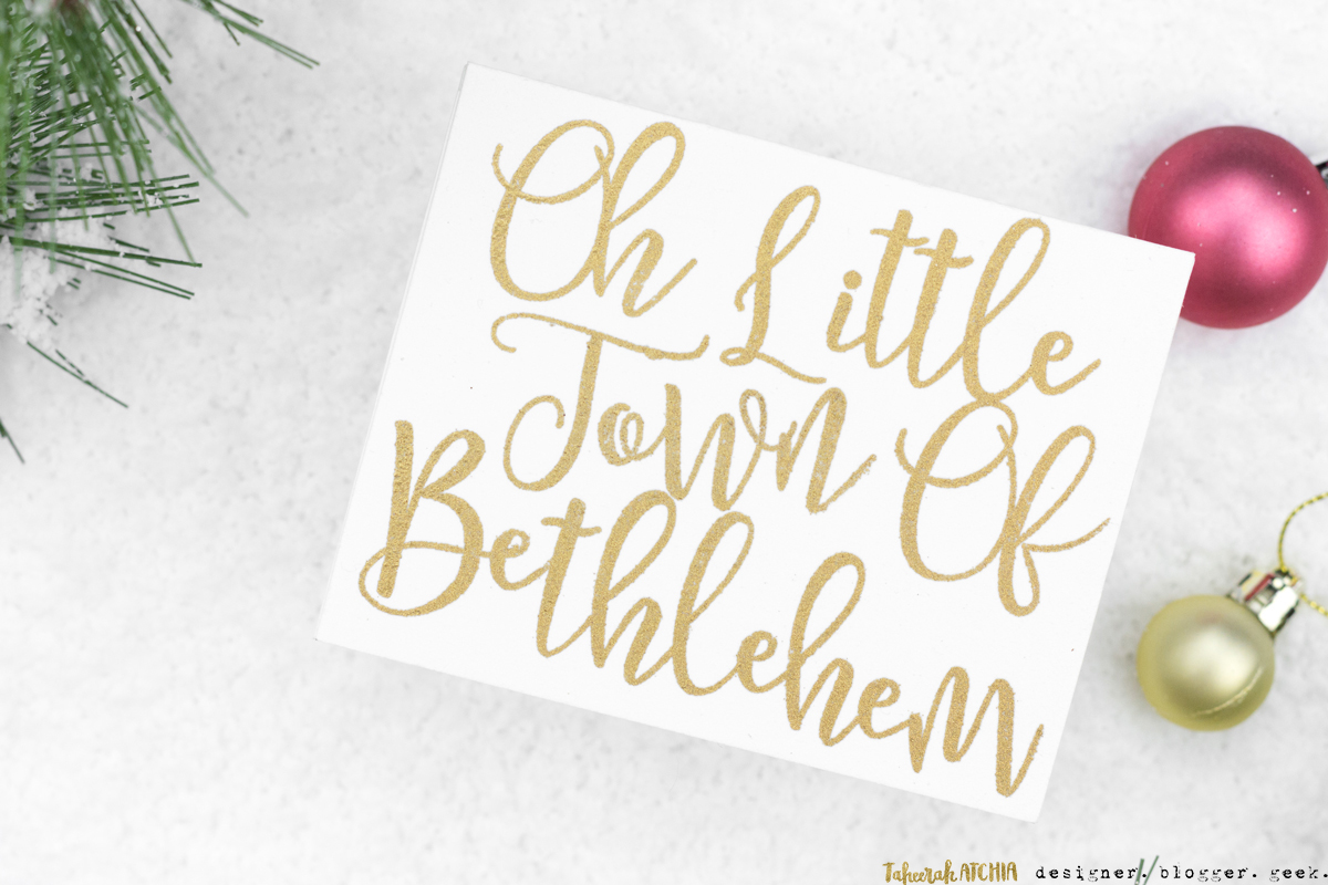 Little Town Of Bethlehem Christmas Card by Taheerah Atchia