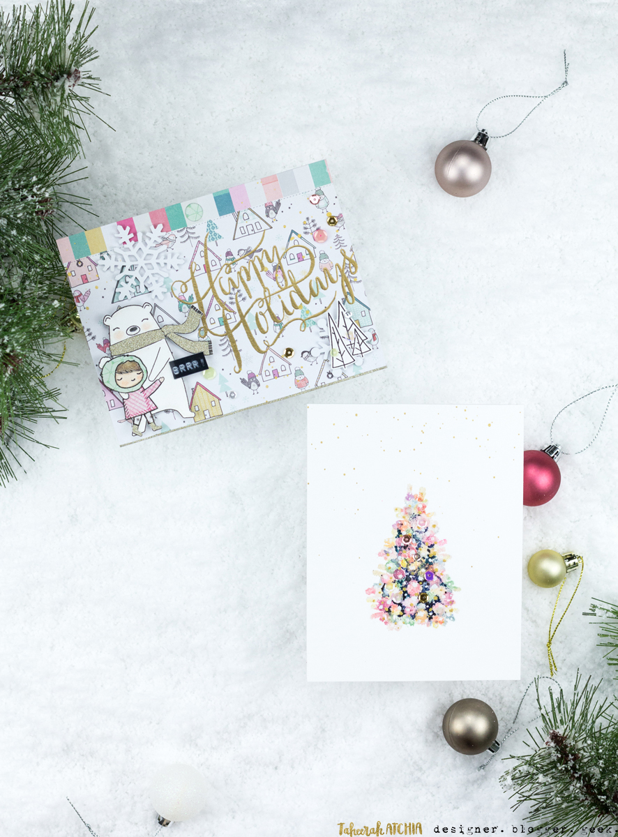Retro Glam Holiday Cards by Taheerah Atchia