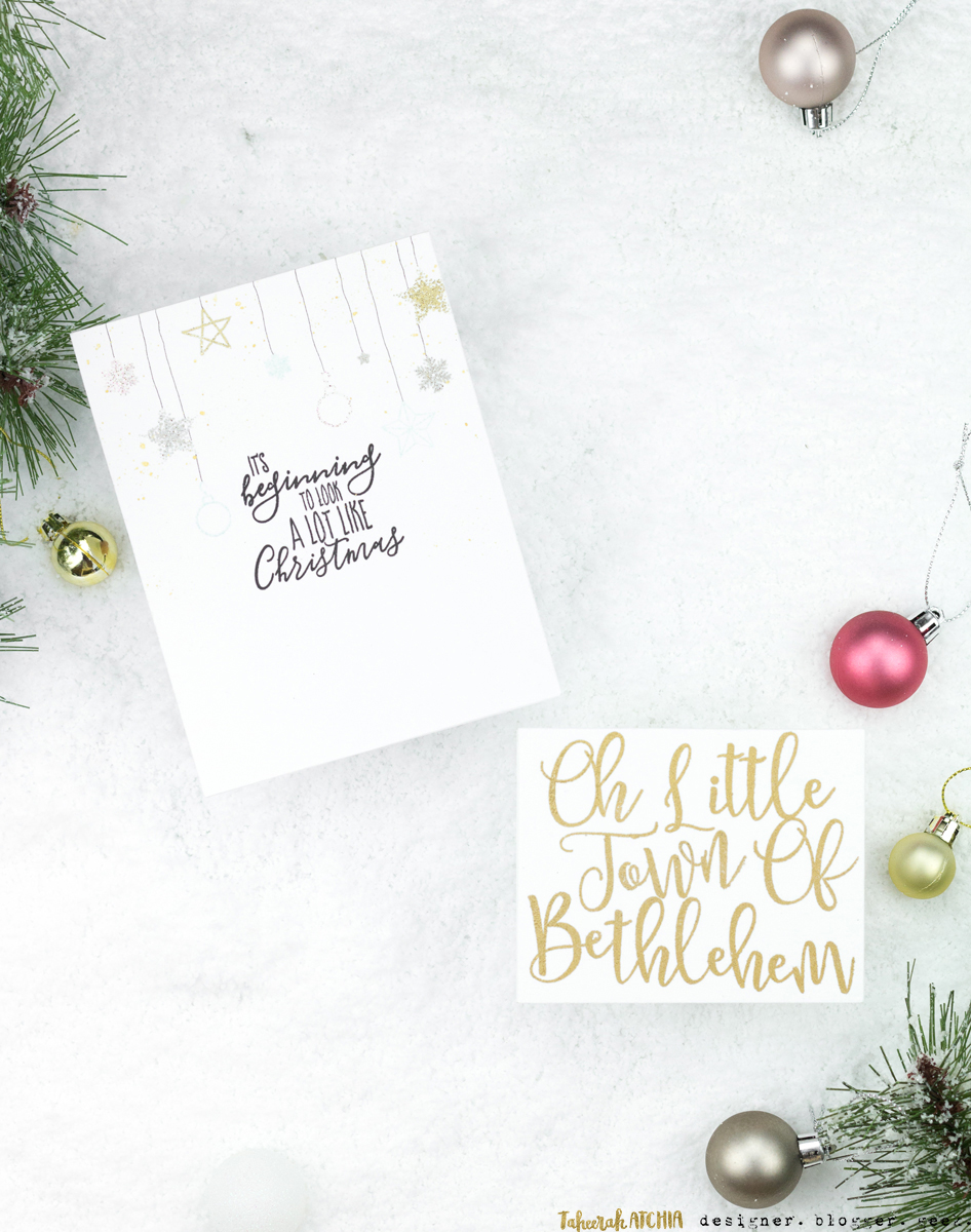 Two Types Of Christmas Celebration Cards by Taheerah Atchia