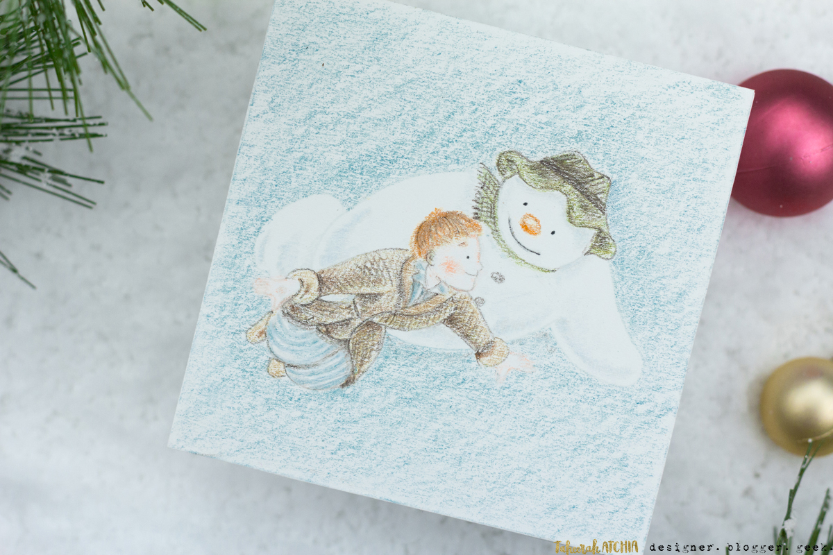 Walking In The Air 'The-Snowman' Christmas Card by Taheerah Atchia