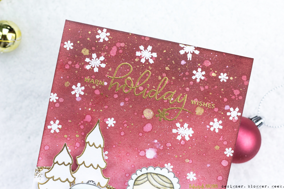 Warm Holiday Wishes Christmas Card by Taheerah Atchia