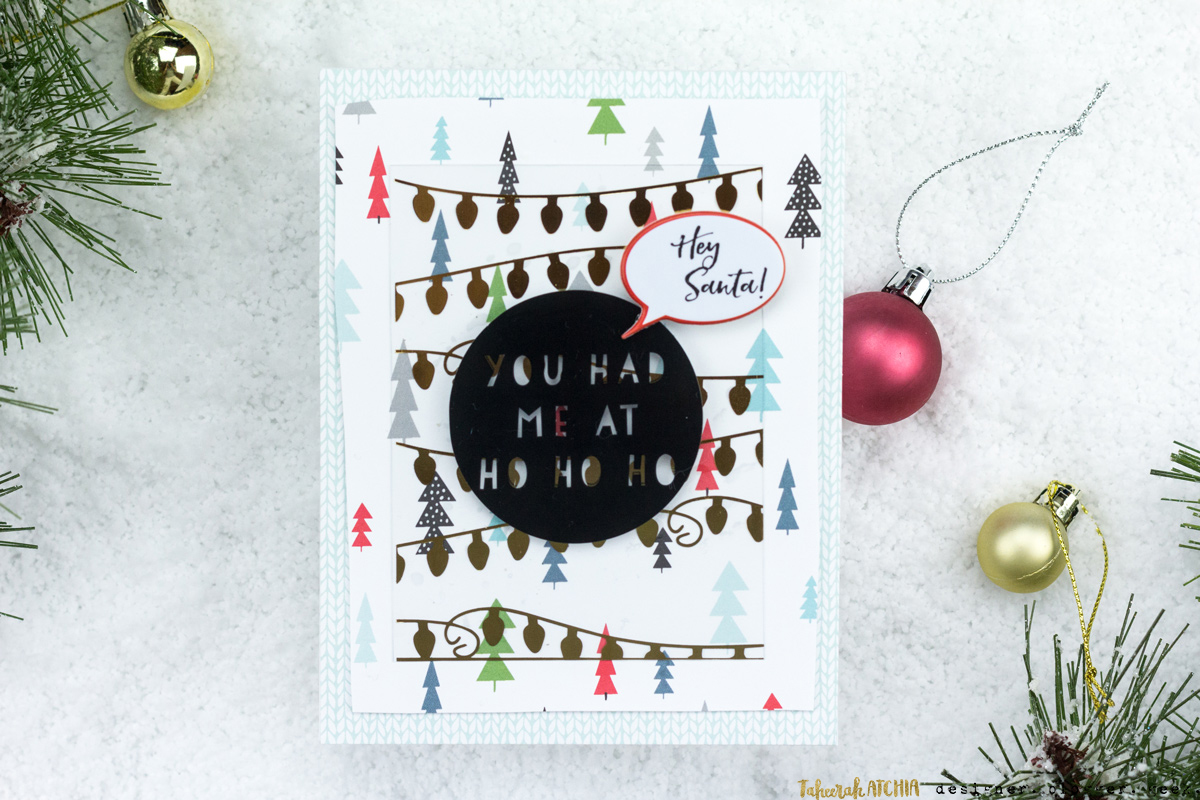 You Had Me At Ho Ho Ho Christmas Card by Taheerah Atchia
