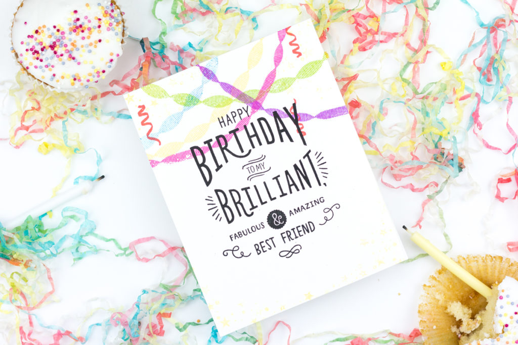 Brilliant Best Friend Birthday Card by Taheerah Atchia