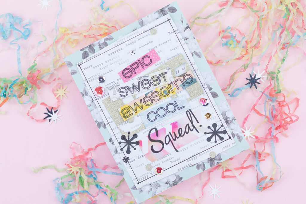 Epic Sweet Awesome Cool Squeal! Congratulations Card by Taheerah Atchia