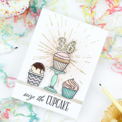 Seize The Cupcake Birthday Card by Taheerah Atchia