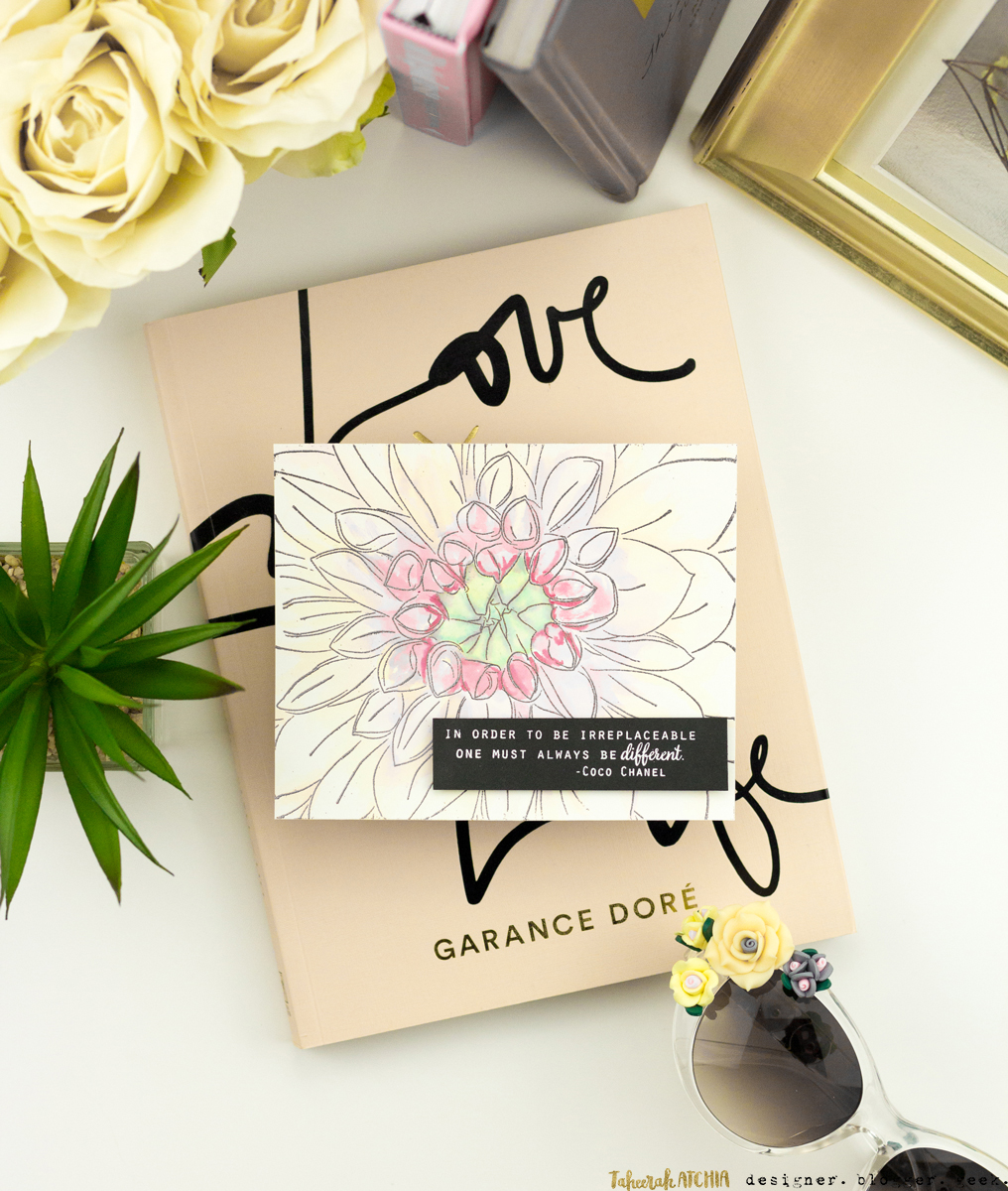 Different Dahlia Card by Taheerah Atchia