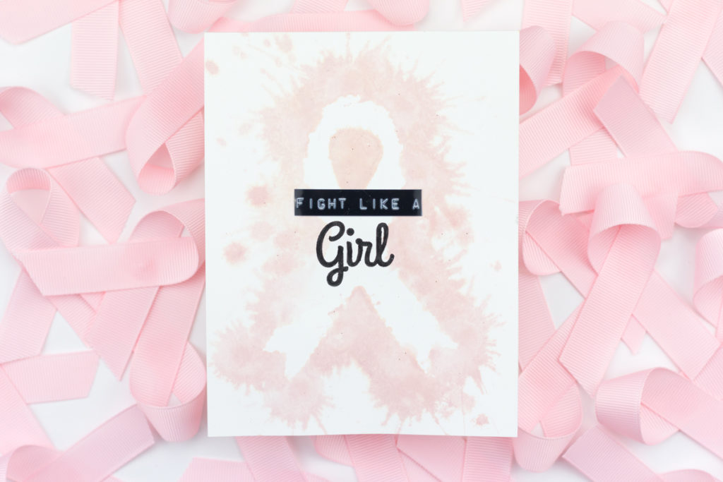 Fight Like A Girl Breast Cancer Awareness Card by Taheerah Atchia