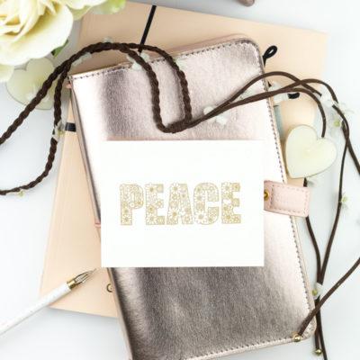 Flowery Peace Card by Taheerah Atchia