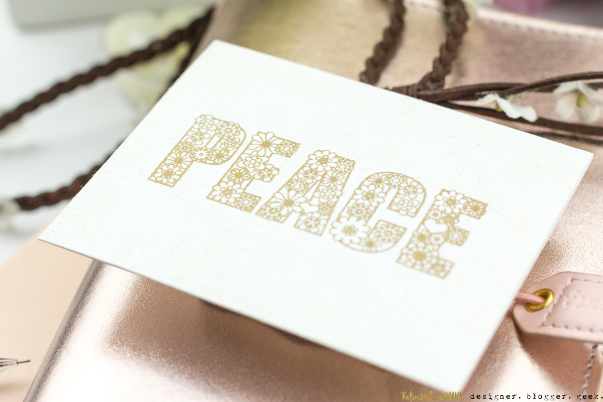 Flowery Peace Card by Taheerah Atchia