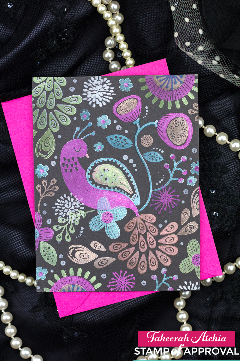 Peacock Floral Card by Taheerah Atchia