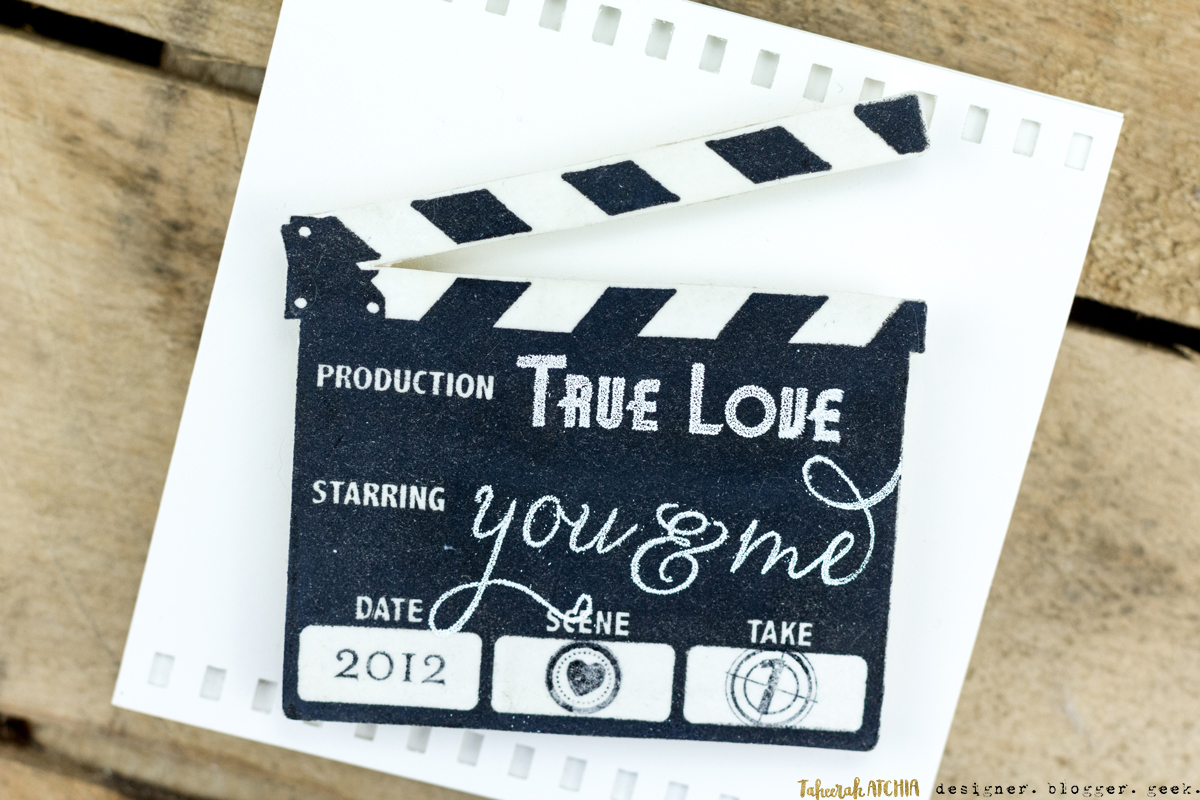 Quick & Easy Valentines Cards for Guys - Movie Love Card by Taheerah Atchia