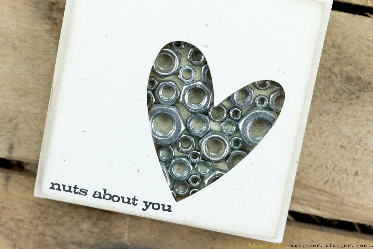 Quick & Easy Valentines Cards for Guys - Nuts About You Card by Taheerah Atchia