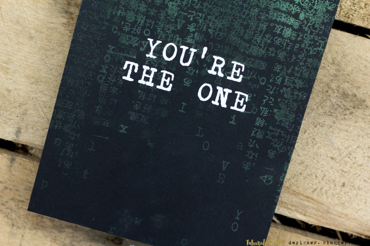 Quick & Easy Valentines Cards for Guys - You're The One Matrix Card by Taheerah Atchia