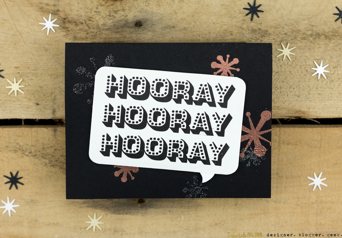 Triple Hooray Celebration Card by Taheerah Atchia