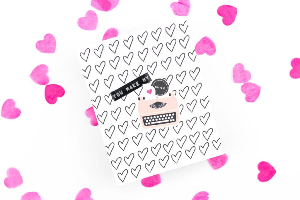You Make My Heart Smile Typewriter Card by Taheerah Atchia