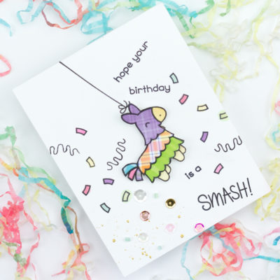 Hope Your Birthday Is A Smash Piñata Birthday Card by Taheerah Atchia