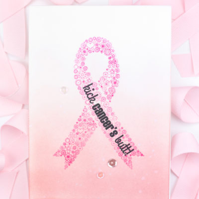 Kick Cancer's Butt! Breast Cancer Awareness Card by Taheerah Atchia