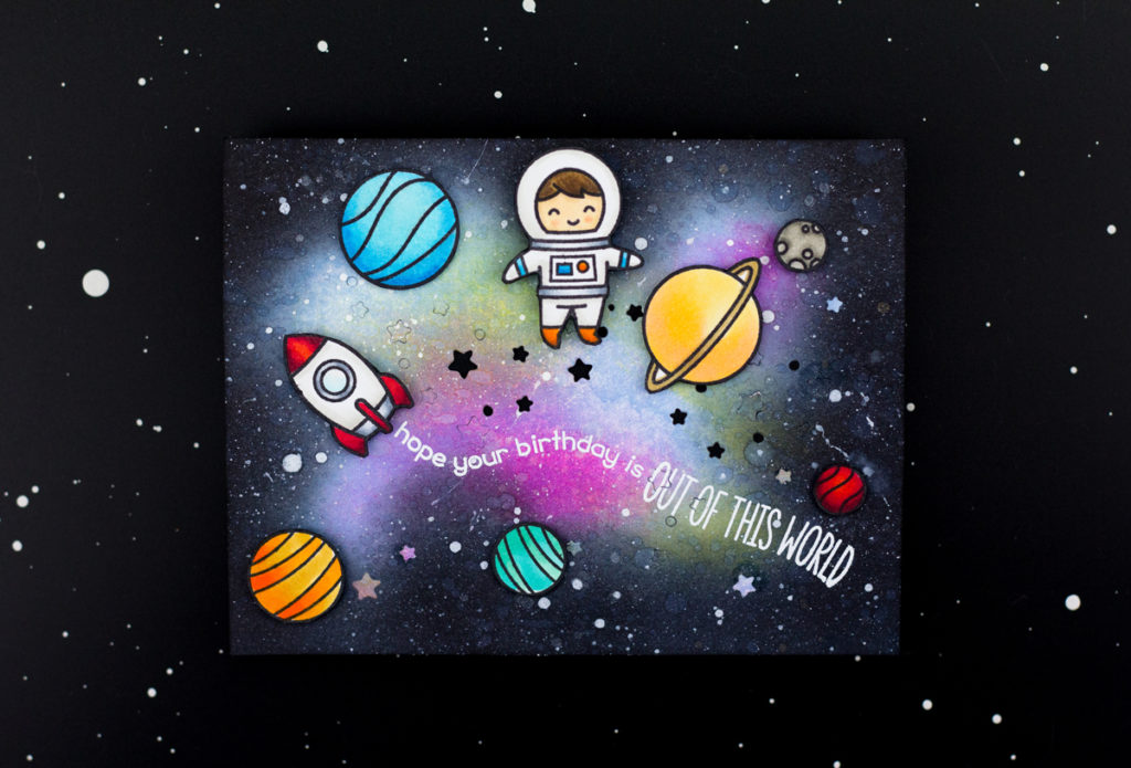 Out Of This World Birthday Card by Taheerah Atchia