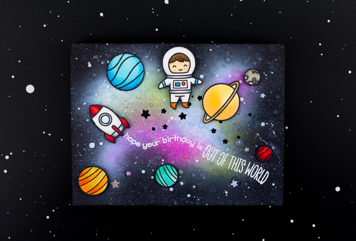 Out Of This World Birthday Card (Lawn Fawn Guest Designer)