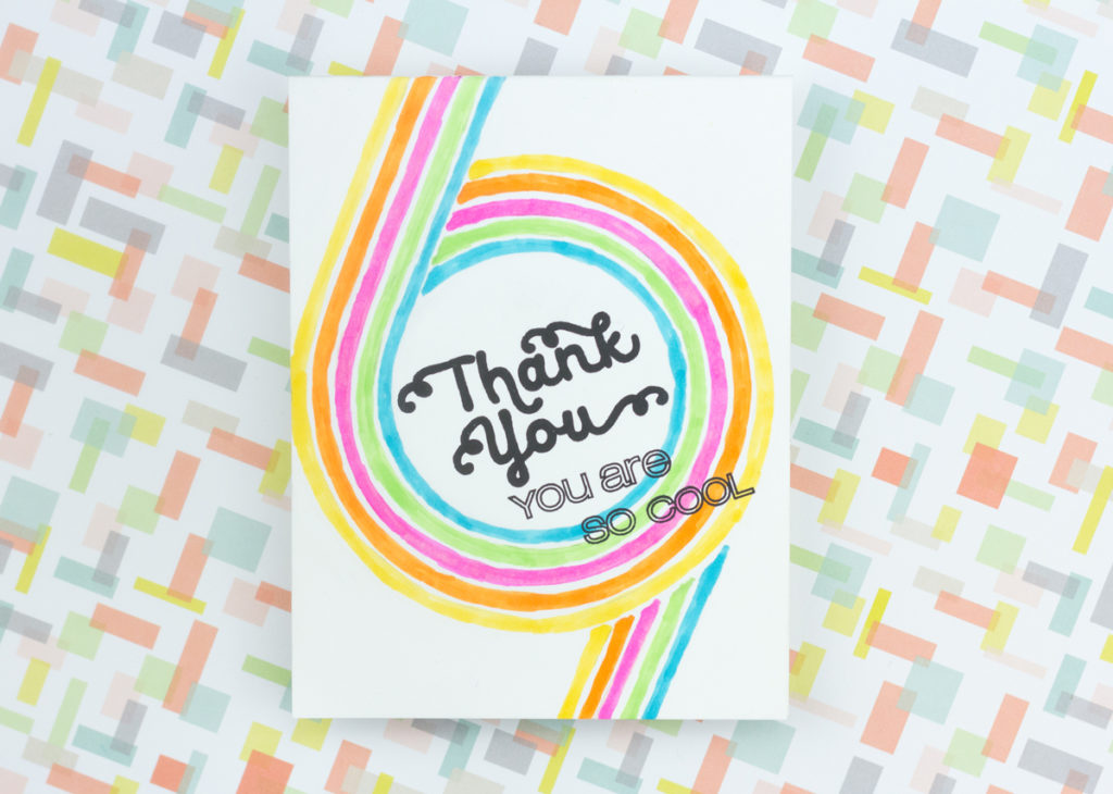 Retro 70s Thank You Card by Taheerah Atchia