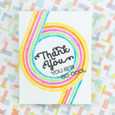 Retro 70s Thank You Card by Taheerah Atchia