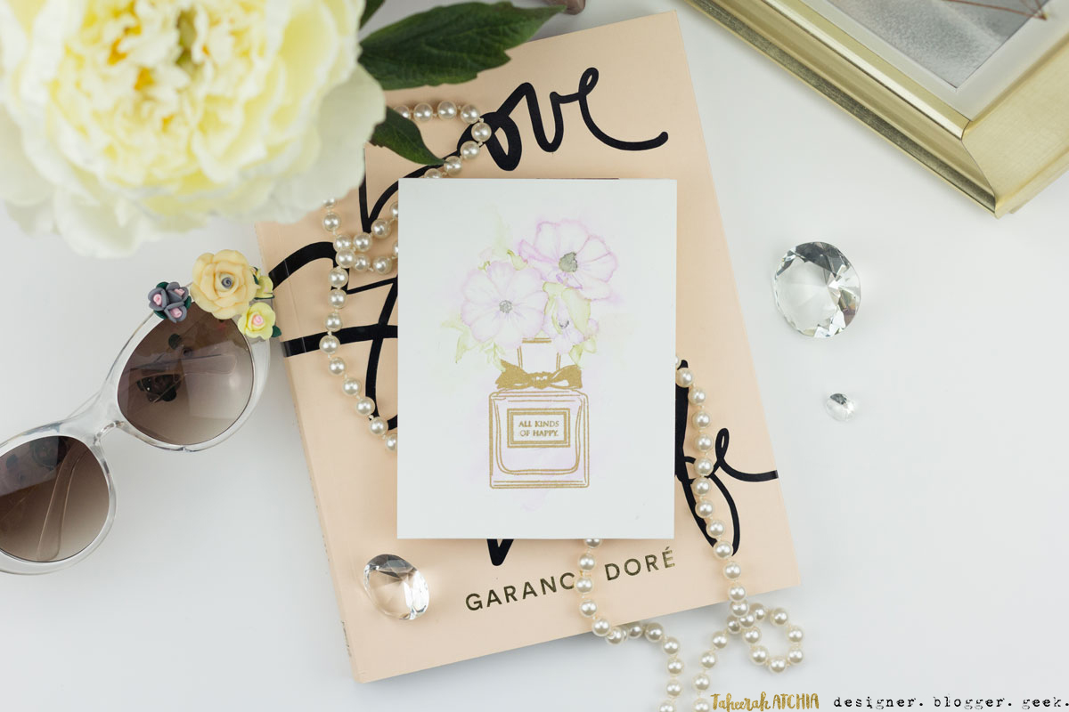 All Kinds Of Happy Wildflower Miss Dior Perfume Card by Taheerah Atchia