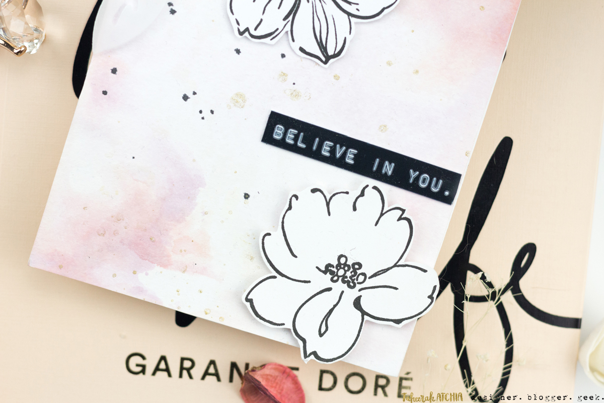 Believe In You (I Do) Hibiscus Card by Taheerah Atchia