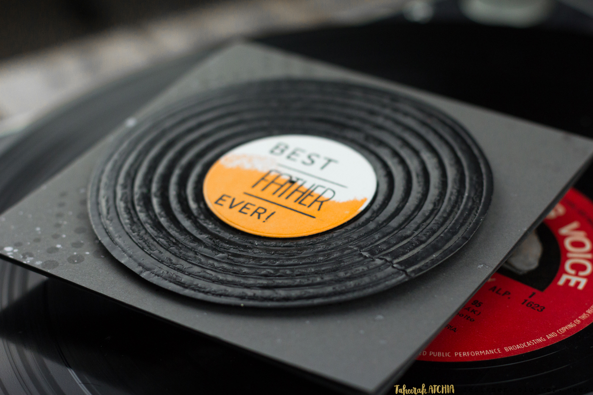 Best Father Ever! Vinyl Record Card by Taheerah Atchia