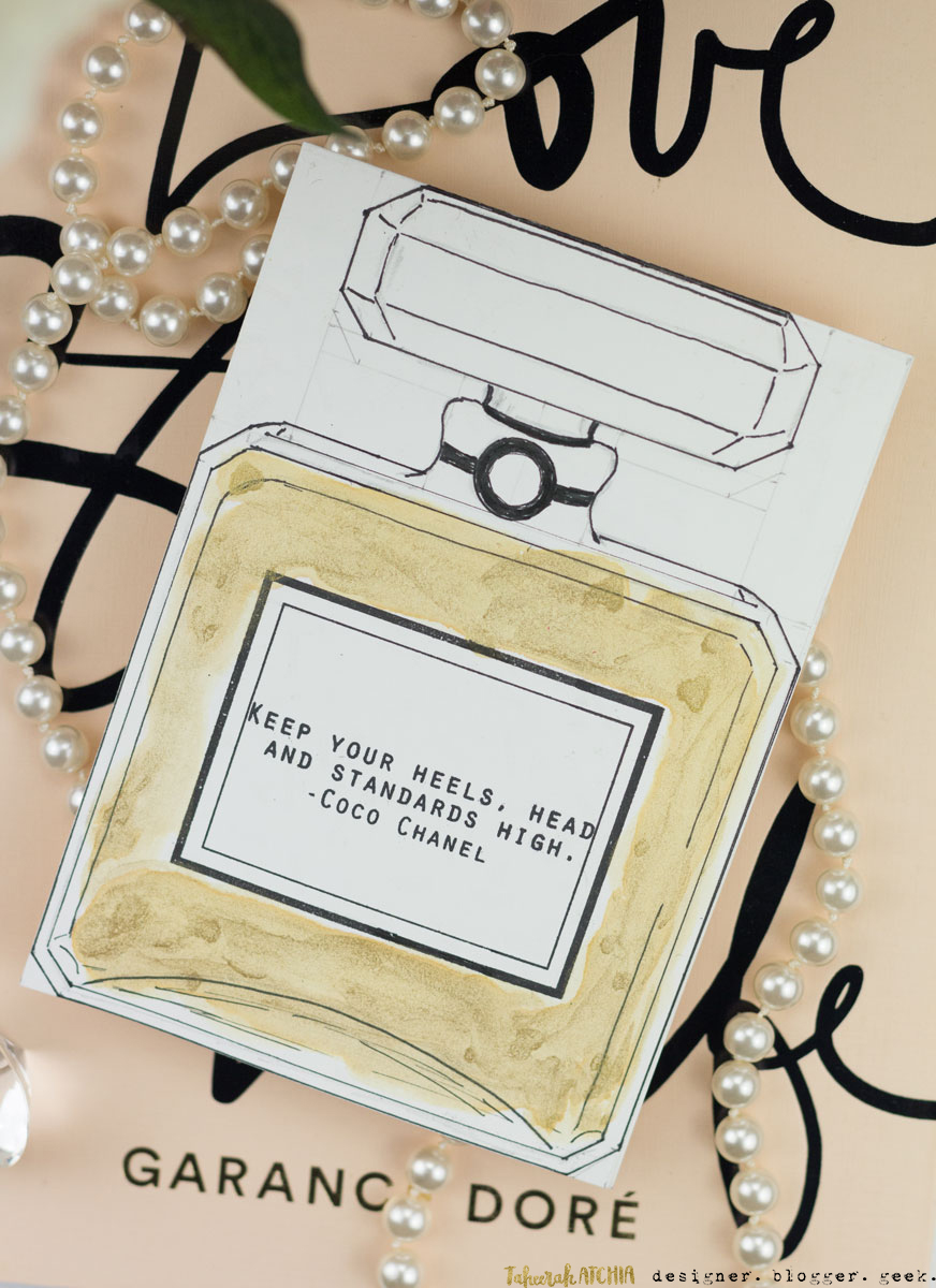 Chanel Bottle Card by Taheerah Atchia