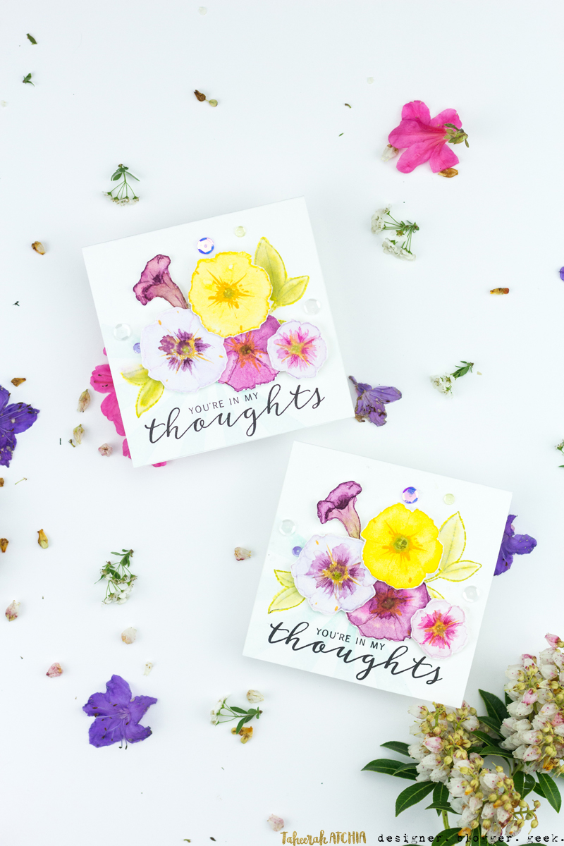You Are In My Thoughts Petunia Card by Taheerah Atchia