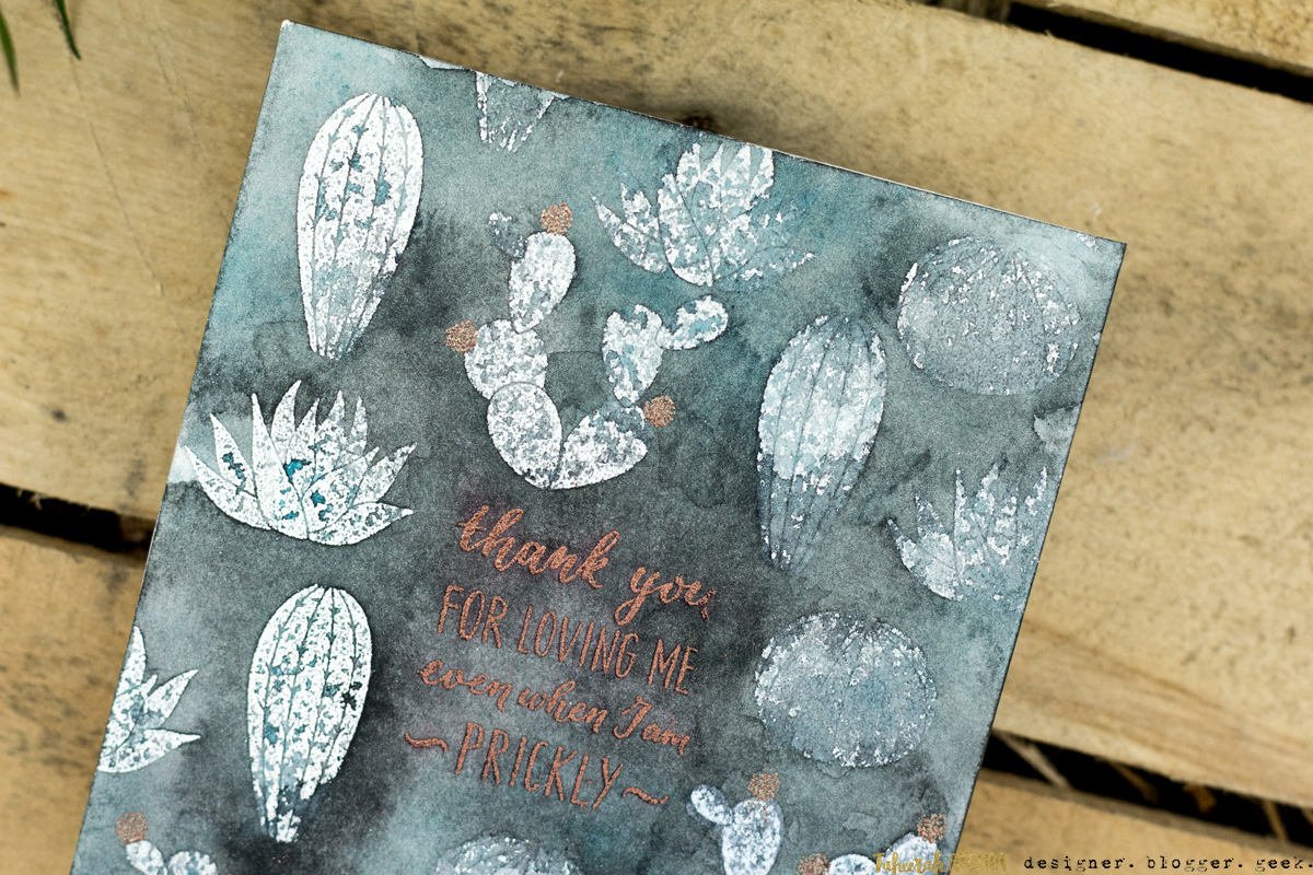 Cactus Love Card by Taheerah Atchia