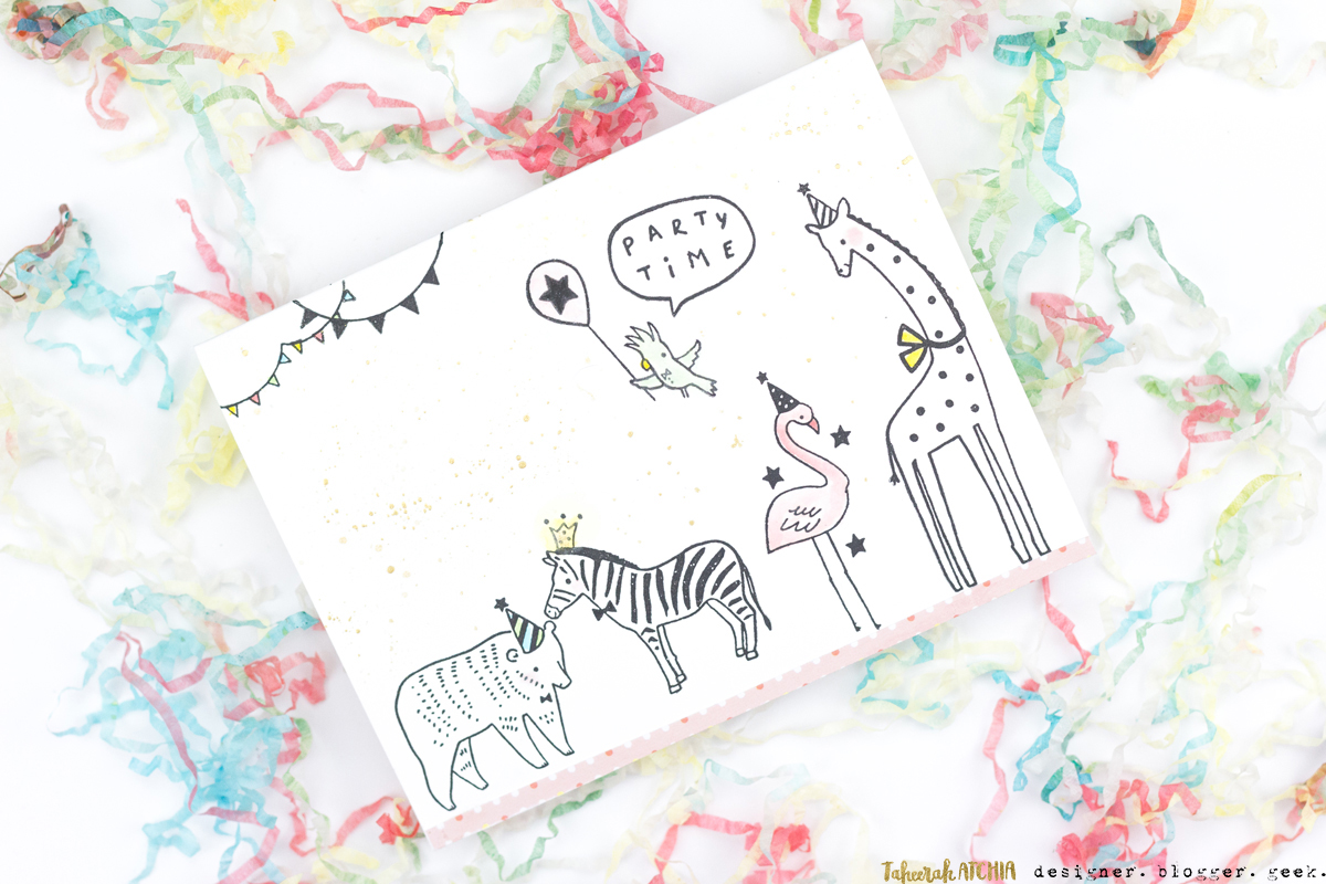 Party Animals Birthday Card by Taheerah Atchia