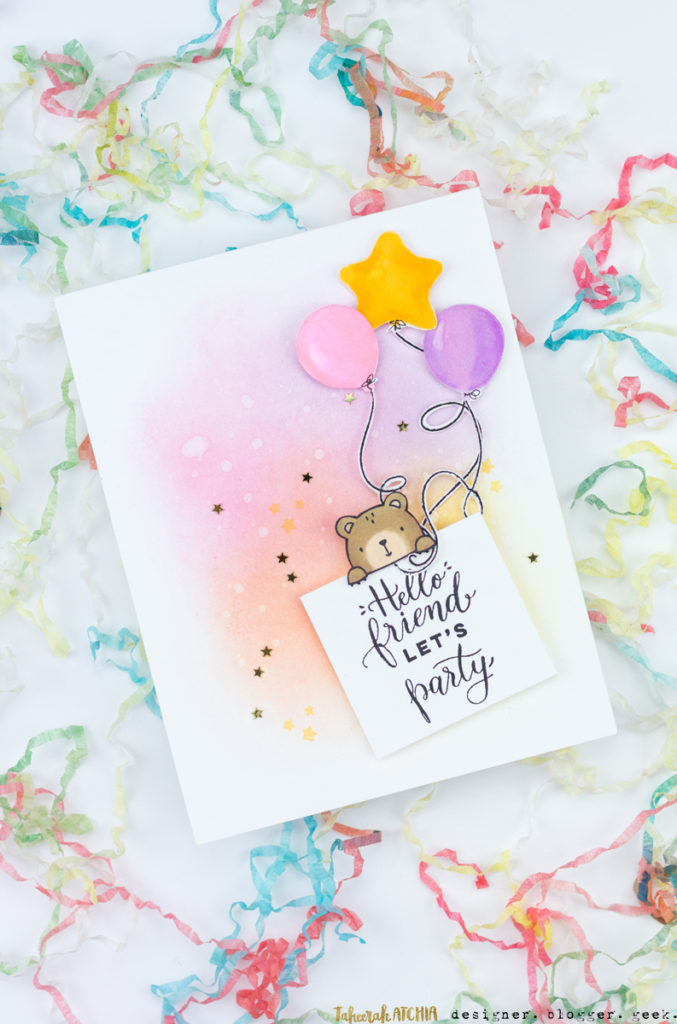 Party Bear Card by Taheerah Atchia