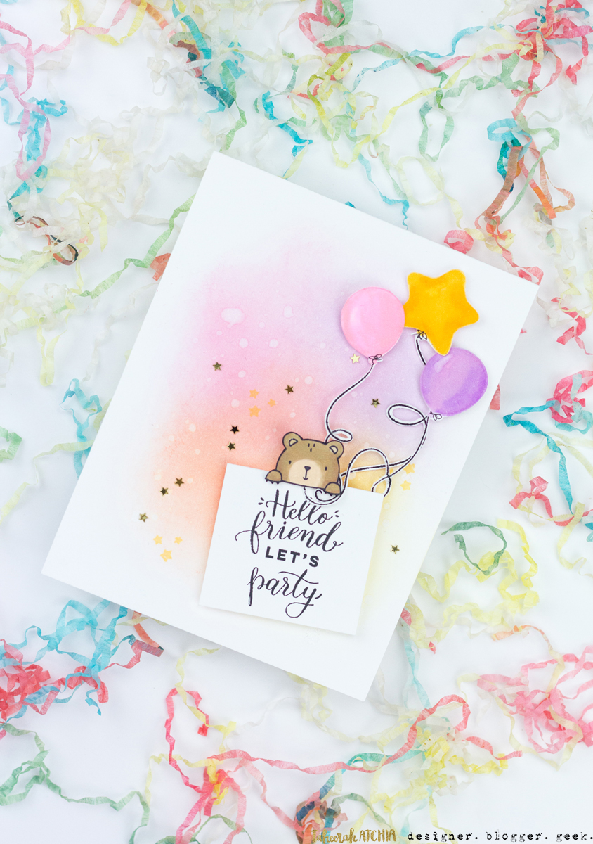 Party Bear Card by Taheerah Atchia