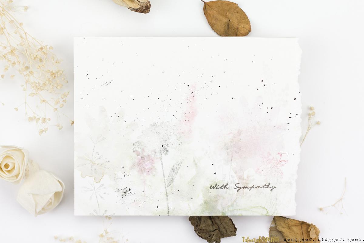 Watercolour Floral Sympathy Card by Taheerah Atchia