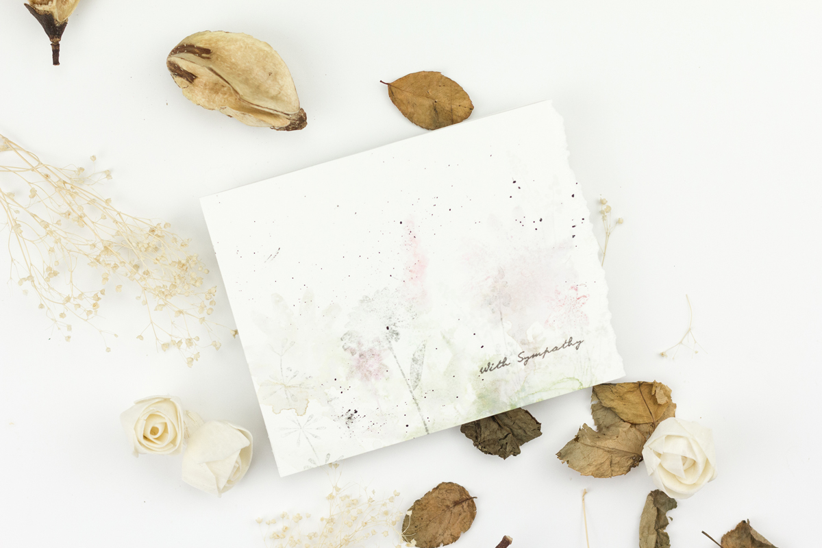 Watercoloured Floral Sympathy Card - And A Few Tips