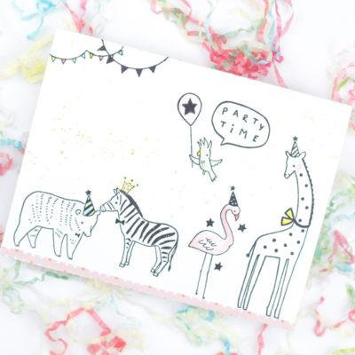 Party Animals Birthday Card by Taheerah Atchia