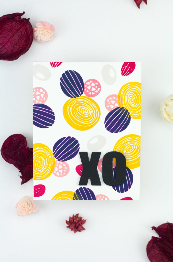 Bold XO Card by Taheerah Atchia
