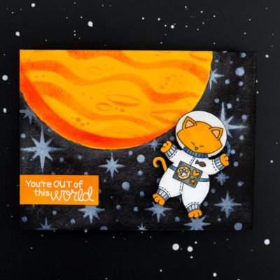 You're Out Of This World Kitty Astronaut Card by Taheerah Atchia
