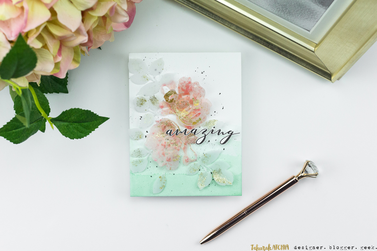 Amazing Floral Card by Taheerah Atchia