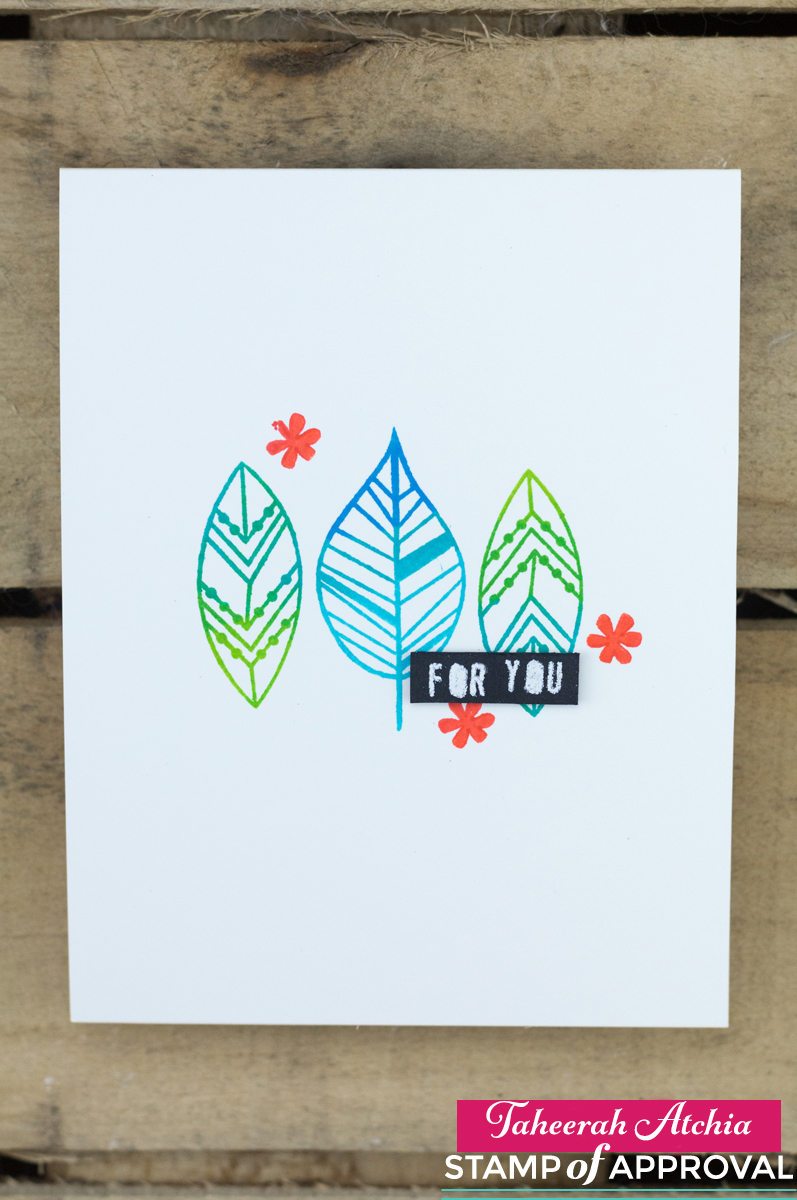 For You Modern Leaves Card by Taheerah Atchia