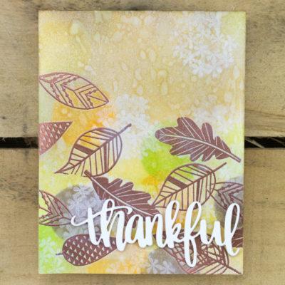 Thankful Leaves Card by Taheerah Atchia