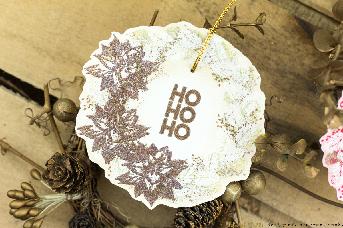 Christmas Wreath Gift Tags by Taheerah Atchia