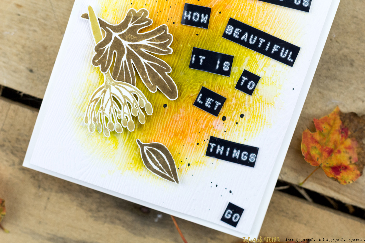 Autumn Shows Us How Beautiful It Is To Let Things Go Card by Taheerah Atchia