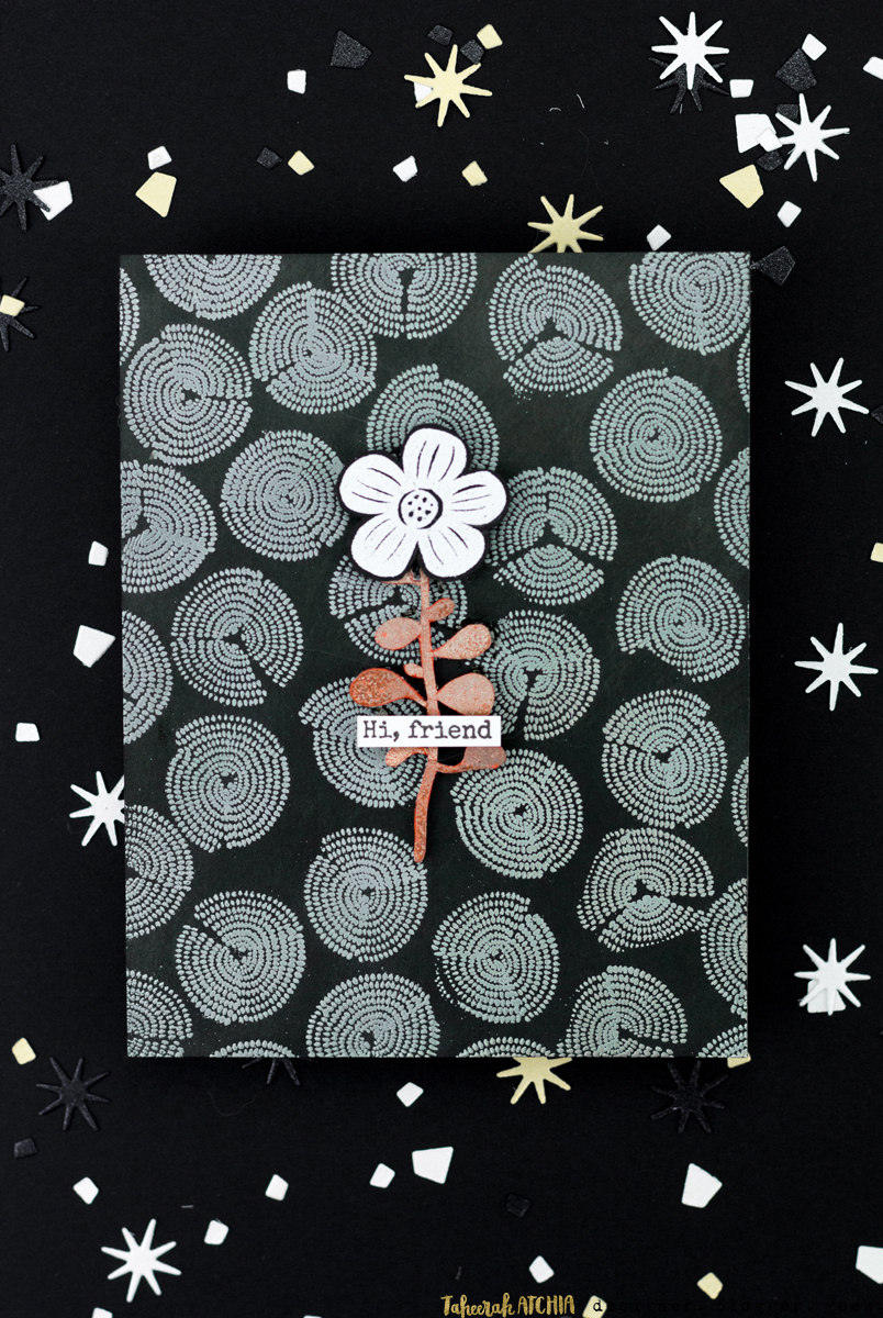 Hi Friend Flower Card by Taheerah Atchia